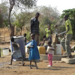 Water time at the village borehole.
