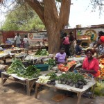 Market time! We only buy our veggies from the village ladies.